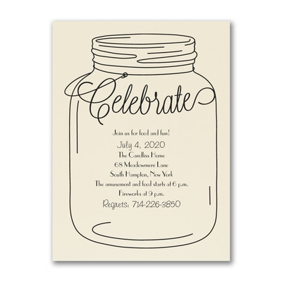 Rustic Celebrate - Party Invitation - Ecru