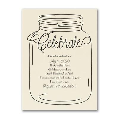 Rustic Celebrate - Party Invitation - Ecru