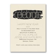 Artsy Celebrate - Party Invitation - Ecru