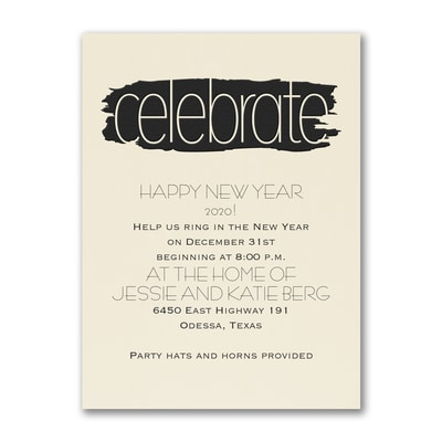 Artsy Celebrate - Party Invitation - Ecru