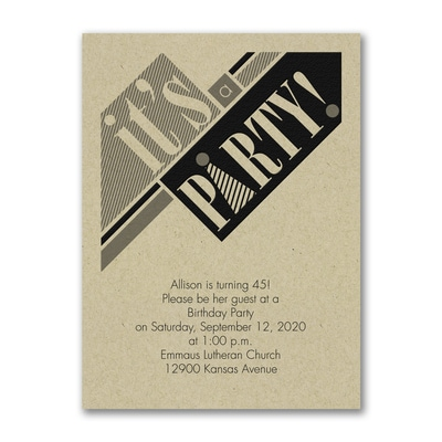 This Way - Birthday Invitation - Kraft