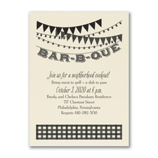 Bar-B-Que Style - Party Invitation - Ecru