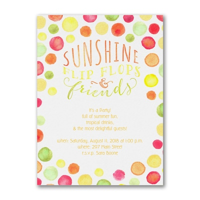 Sunshine Dots - Party Invitation