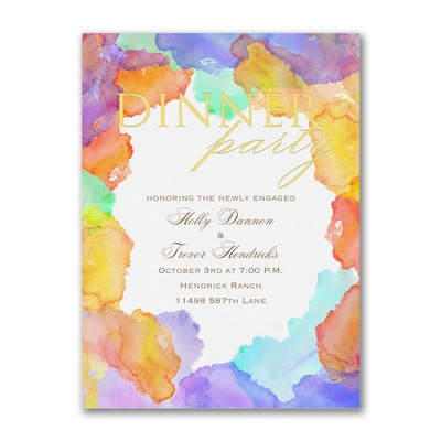 Watercolor Shine - Party Invitation