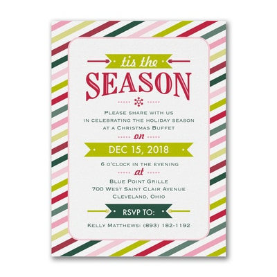 Seasonal Stripes - Party Invitation