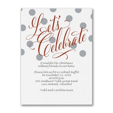 Dots and Shine - Party Invitation