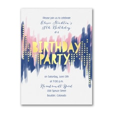 Birthday Glitz - Birthday Invitation