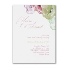 Watercolor Blossoms - Party Invitation