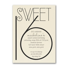 Sweetest Year - Birthday Invitation - Ecru