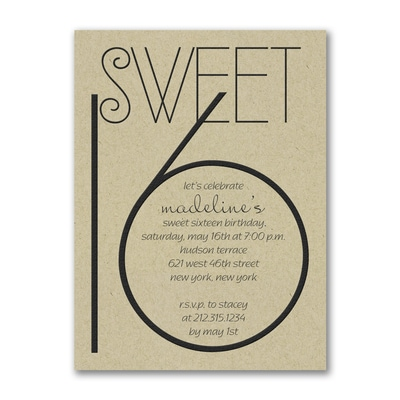 Sweetest Year - Birthday Invitation - Kraft