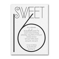 Sweetest Year - Birthday Invitation - White Shimmer