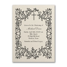 Baptism Christening Invitation: Classic Christening