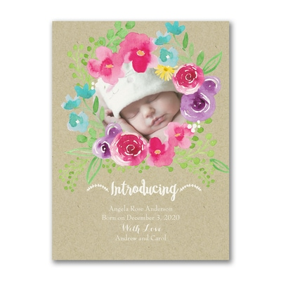 Posie Shine - Photo Birth Announcement
