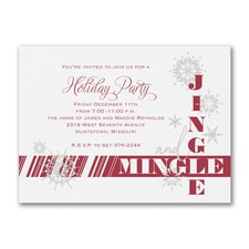 Jingle and Mingle - Party Invitation