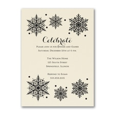 Rustic Snowflake - Party Invitation - Ecru