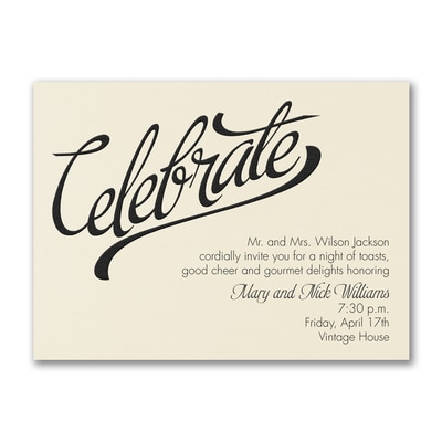 Celebrate Big - Party Invitation - Ecru