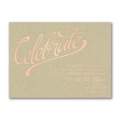 Celebrate Big - Party Invitation - Kraft