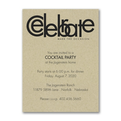Celebrate - Party Invitation - Kraft