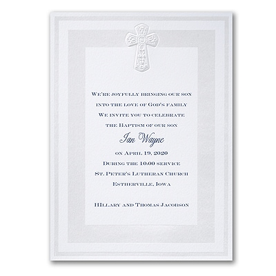 Pearlized Cross - Invitation