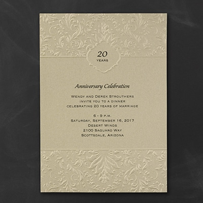 Damask Crest - Invitation