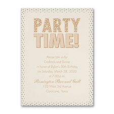 Pearly Confetti - Party Invitation