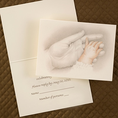 Tiny Hand to Hold - Response Card and Envelope