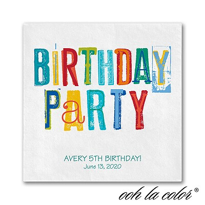 Colorful Birthday - Napkin