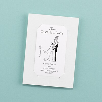 Simple - Save the Date Magnet with Backer