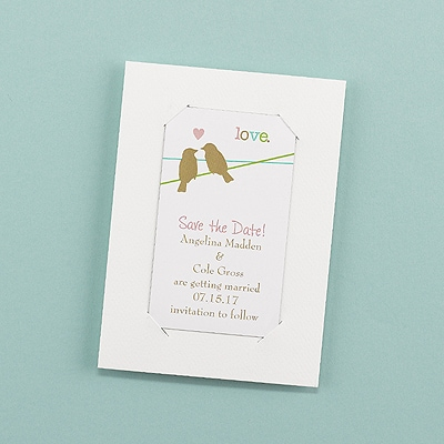 Devoted Pair - Save the Date Magnet with Backer
