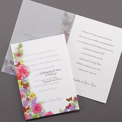 Butterfly Garden - Invitation