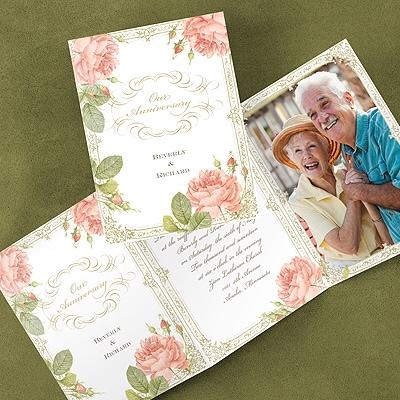 Vintage Cabbage Rose - Invitation