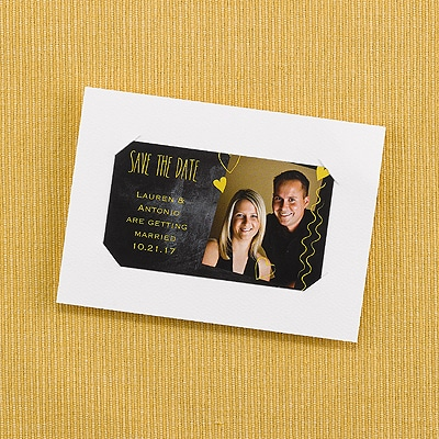 Heartstrings - Save the Date Magnet with Backer