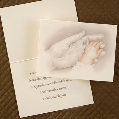 Tiny Hand to Hold - Reception Card