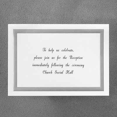 Silver on White - Reception Card