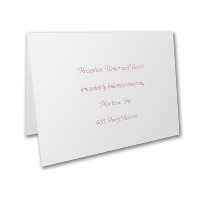 Lovely Dedication - Reception Card