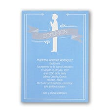 First Communion Boy - Invitation