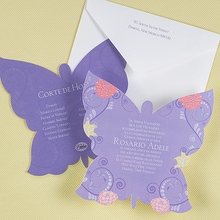 Butterfly Silhouette - Invitation