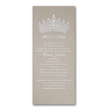 Crowned In Elegance - Invitation