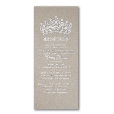 Crowned In Elegance - Invitation