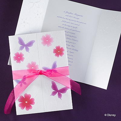 Butterfly Blooms - Rapunzel - Invitation