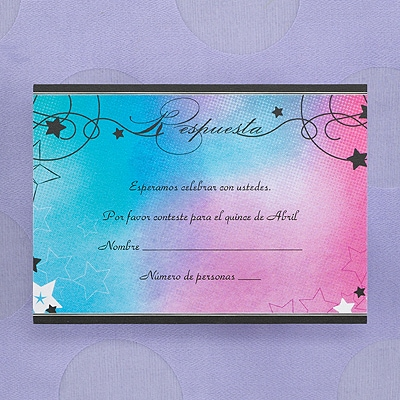 Shooting Star - Respond Card and Envelope