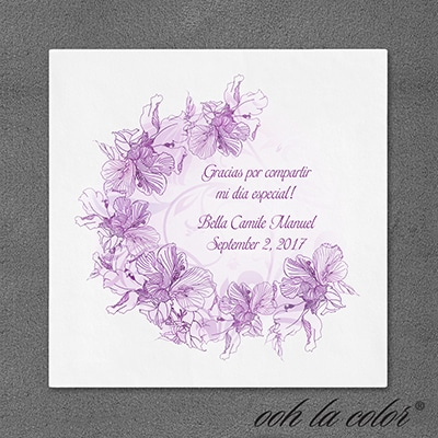 Purple Floral - Napkin