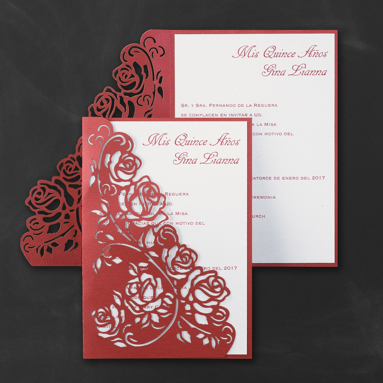 Regal Roses - Invitation > Quinceañera | Carlson Craft Wedding ...
