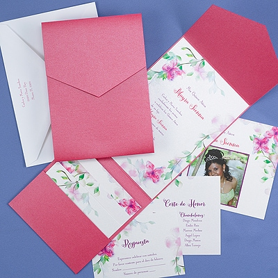 Blooms and Butterflies - Invitation
