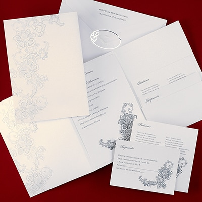 Lacy Flourish - Invitation