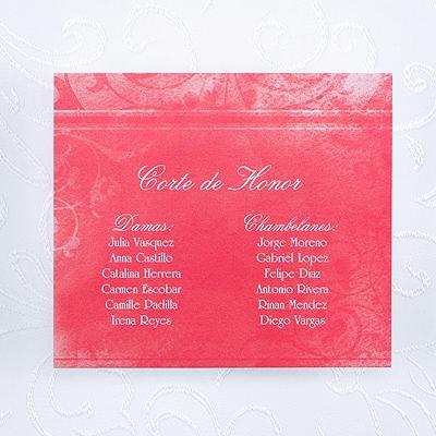 Faded Flourish - Reception Card