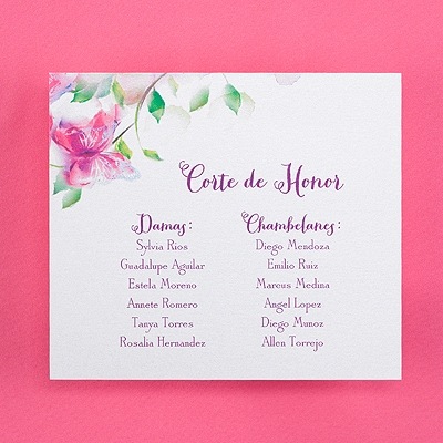 Blooms and Butterflies - Reception Card