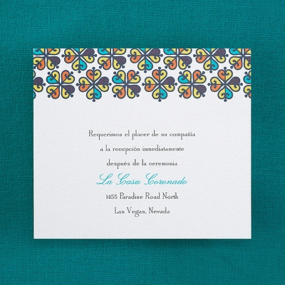 Bright and Beautiful - Reception Card