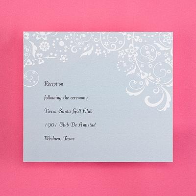 Soft Swirls - Reception Card