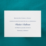 Timeless Beauty - Reception Card